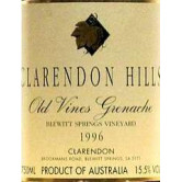 CLARENDON HILLS Old Vines Grenache Blewitt Springs Vineyard 1996