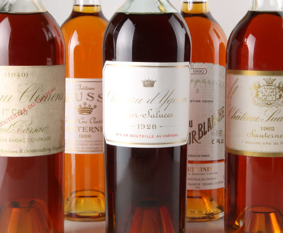 Sauternes rated 90/100 and above