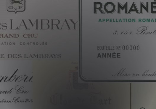 Greatest Burgundy wines